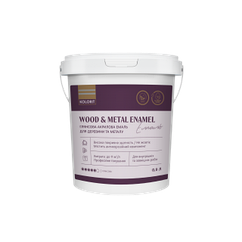 Акриловая глянцевая эмаль Kolorit Wood and Metal Enamel 0.9л