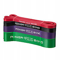 Эспандер-петля (резинка для фитнеса и спорта) 4FIZJO Power Band 4 шт 6-36 кг 4FJ0063