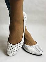 Женские туфли -балетки из натуральной кожи Белый.Размер 36 37 38 39 40 Mario Muzi, фото 3