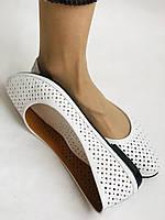 Женские туфли -балетки из натуральной кожи Белый.Размер 36 37 38 39 40 Mario Muzi, фото 4