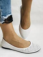 Женские туфли -балетки из натуральной кожи Белый.Размер 36 37 38 39 40 Mario Muzi, фото 5