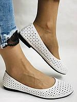 Женские туфли -балетки из натуральной кожи Белый.Размер 36 37 38 39 40 Mario Muzi, фото 7