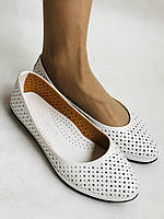 Женские туфли -балетки из натуральной кожи Белый.Размер 36 37 38 39 40 Mario Muzi, фото 6