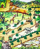 Ігровий килимок 80*70 см з набором динозаврів 019A-15C