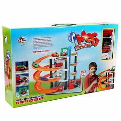 """Детский игровой набор гараж Joy Toy """"Мега парковка"""" 4 уровня и 4 машинки"""