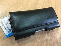 Чехол сумка кожаная(кобура)на пояс для Nokia 206.Samsung S5610,Sigma.(120*63)