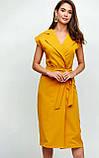 """Літнє плаття Karree """"Брауні"""" у стилі на запах (пудра, р. S-M), фото 5"""