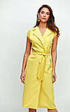 """Літнє плаття Karree """"Брауні"""" у стилі на запах (пудра, р. S-M), фото 3"""