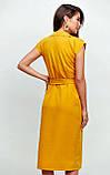 """Літнє плаття Karree """"Брауні"""" у стилі на запах (пудра, р. S-M), фото 6"""
