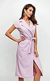"""Літнє плаття Karree """"Брауні"""" у стилі на запах (пудра, р. S-M), фото 9"""