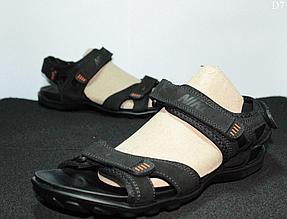 Чоловічі сандалі Nike (чорно-помаранчеві) D7