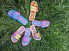 Детские сланцы на липучке для девочки ромашка 30-35