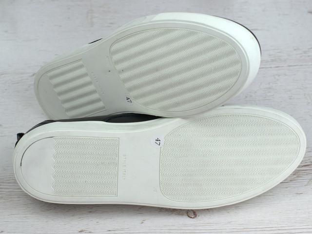 Чоловіче взуття великих розмірів кросівки сліпони чорні шкіряні Rosso Avangard OrigSlipy Black&White BS