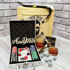 """Подарунок чоловікам, чоловікові, татові на День Народження, Ювілей - це """"Покер"""" (Код BFM-2102)"""