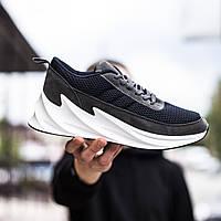 Мужские кроссовки Реберу Дабл (Серые с черным белая подошва) 43,44