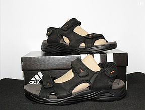 Чоловічі сандалі Adidas (чорно-помаранчеві) D8