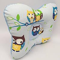 Подушка ортопедическая типа бабочка для новорожденных Sindbaby из ткани Совенок
