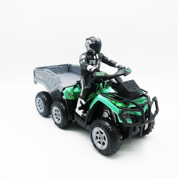 Игрушка Мотоцикл Квадроцикл с прицепом на радиоуправлении 2,4Ghz.