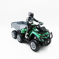 Игрушка Мотоцикл Квадроцикл с прицепом на радиоуправлении 2,4Ghz., фото 1