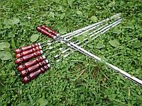 Шампура з дерев'яними ручками 8 шт. (730х12х3 мм)