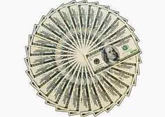 """Вафельна картинка """"Долари"""""""