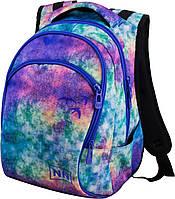 Рюкзак подростковый голубой для девочки школьный с абстрактным принтом Winner One 247D
