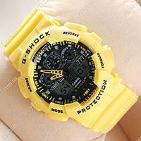Часы женские наручные Casio GA-100 Yellow/Black