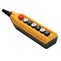 Крановый пульт управления 7-кнопочный, 1 скорость, аварийный стоп (жёлто-чёрный) Артикул PV7Е30В222 ЭМАС