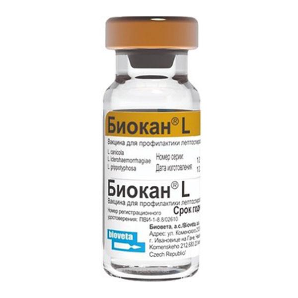 Вакцина Биокан L (Bioveta) для Собак - 1 доза