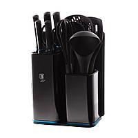 Набір кухоних приладів 5 пр з набором ножей 5 пр, обробною дошкою та підставкою - BH 2547 - BERLINGER HAUS
