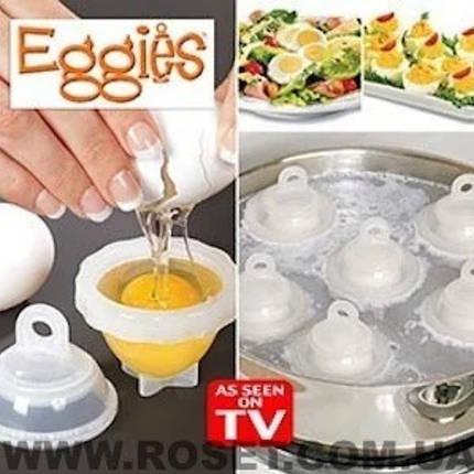 Яйцеварка-формы для варки яиц без скорлупы Eggies, фото 2