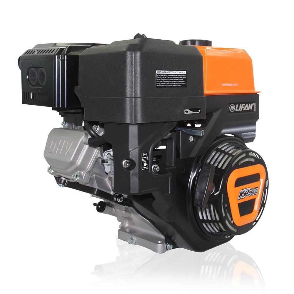 Двигатель (бензин газ)  LIFAN KP460 с электростартером  (20 л.с) шпонка 25 мм