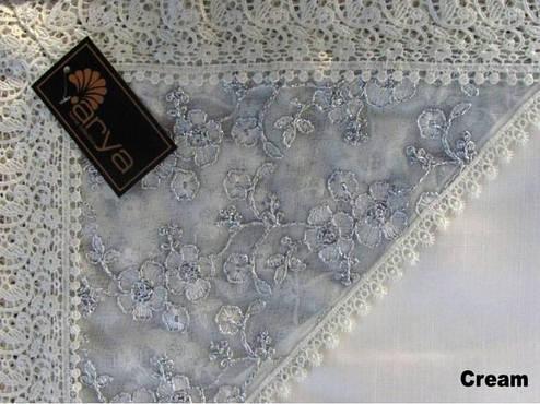 Скатерть KAYAOGLU Almira beyaz, фото 2
