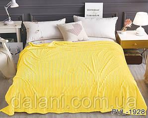 Плед желтый из велсофта (микрофибра) (160*220)
