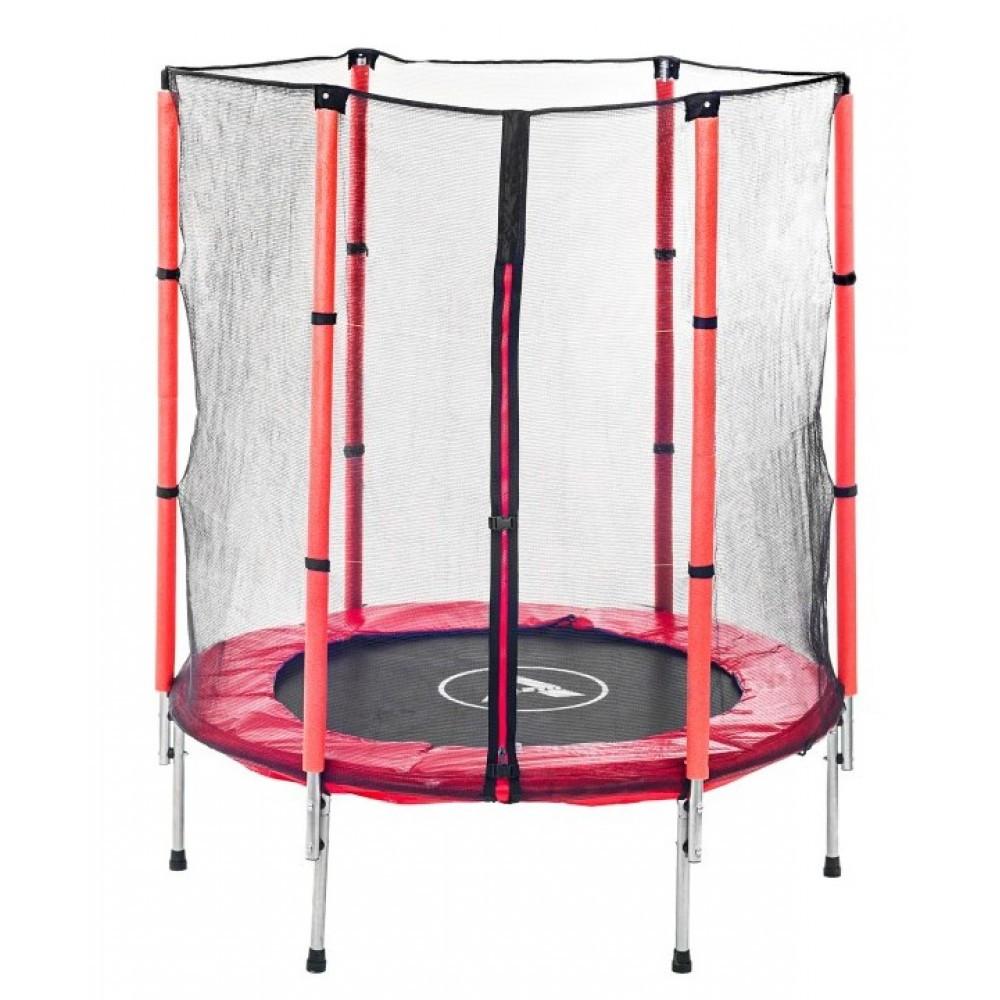 Батут комнатный детский с защитной сеткой 140 см Atleto красный