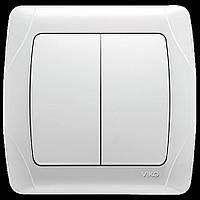 VIKO CARMEN выключатель двойной белый