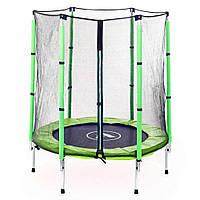 Батут комнатный детский с защитной сеткой 140 см Atleto зеленый