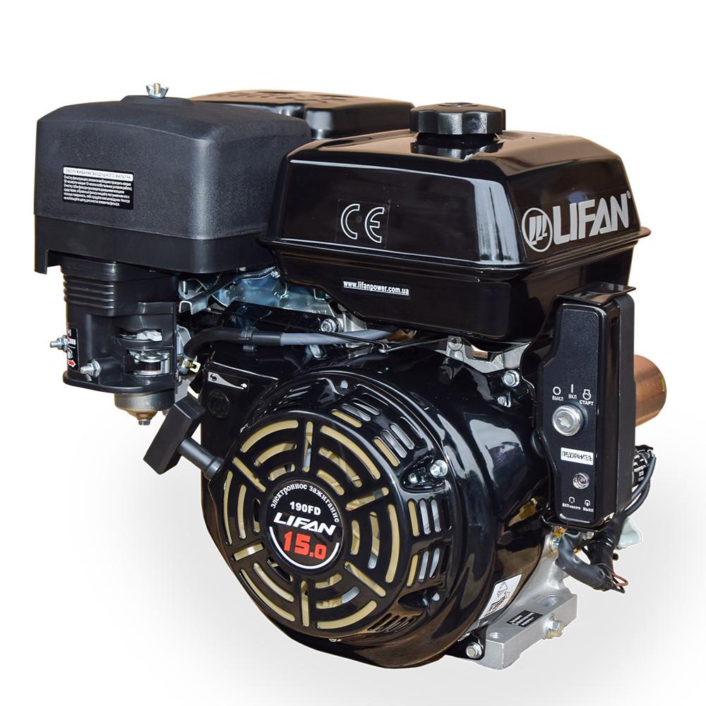 Бензиновий двигун LIFAN 190FD 15 к. с.(шпонка 25 мм)