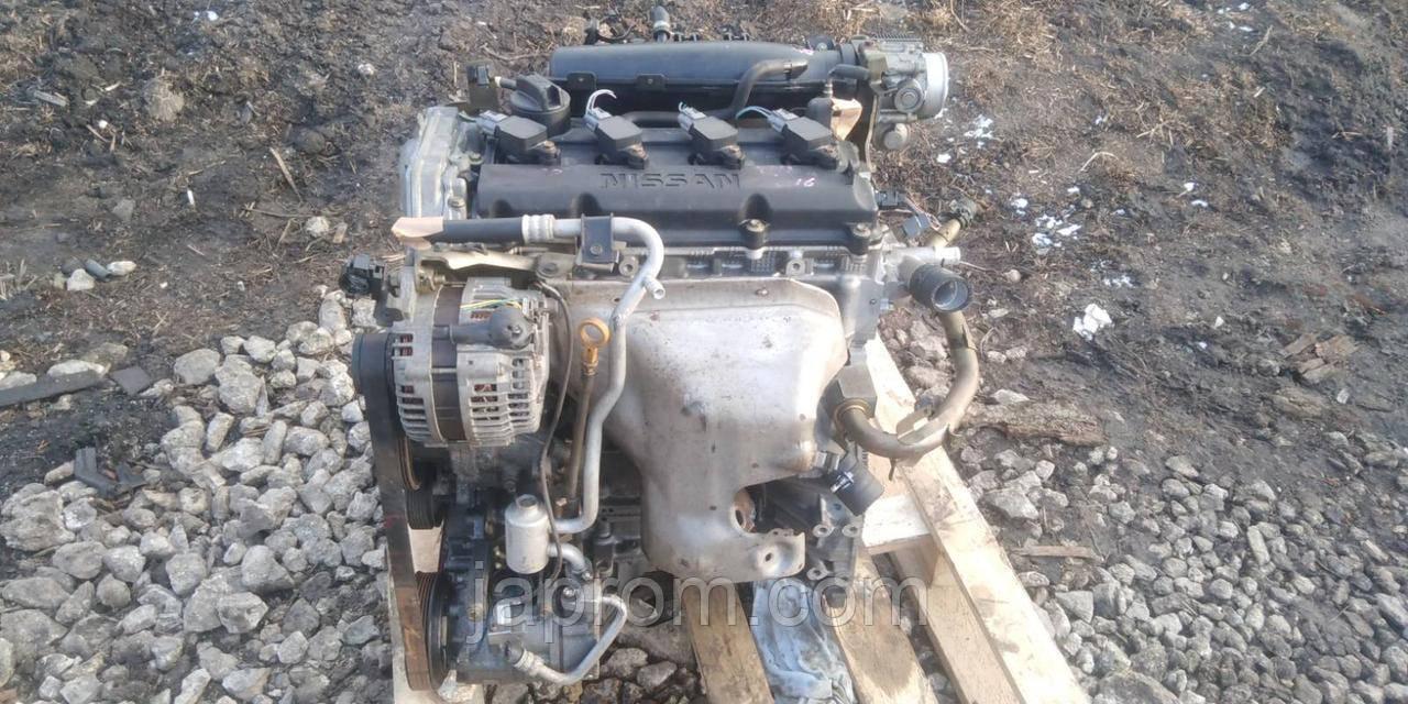Мотор (Двигатель) Nissan Primera P12 X-trail T-30 2.0 бензин QR20 с навесным