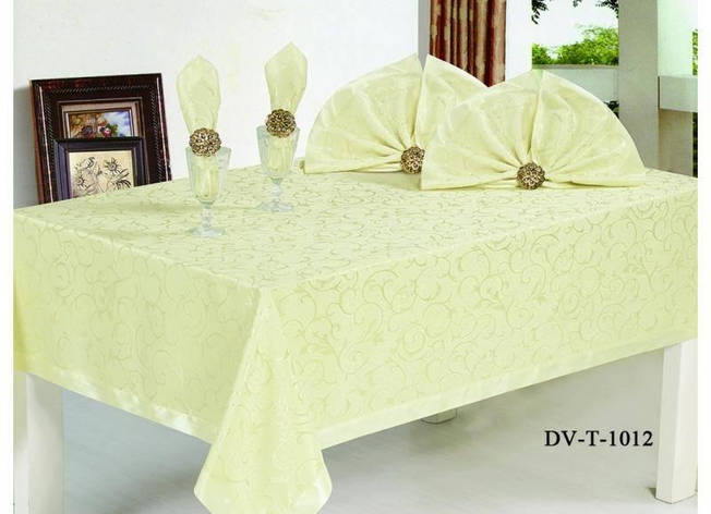 Комплект столового белья с кольцами, 9 единиц DV T 1012, фото 2