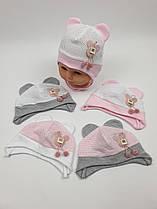 Летние детские шапочки в сеточку с ушками для девочек, р. 38-40 42-44, Польша (Ala Baby)