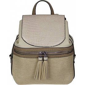Рюкзак №H8431 Бежевий #M/K