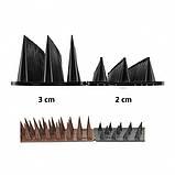 Пластиковые шипы от птиц и животных 0,5 м*3 см Черный, фото 3