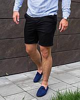 Мужские чёрные шорты из льна S M L XL
