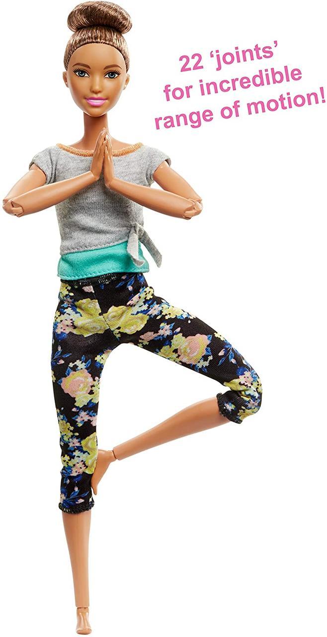 Шарнирная кукла Барби Йога Оригинал шатенка серия Занятия аэробикой (FTG82) (887961643763)