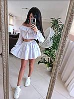 Костюм рюша юбка + топ с рукавом, фото 1