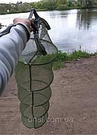Садок рыболовный капроновый с ручками  4 кольца