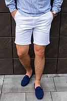 Стильные мужские белые шорты из льна S M L XL