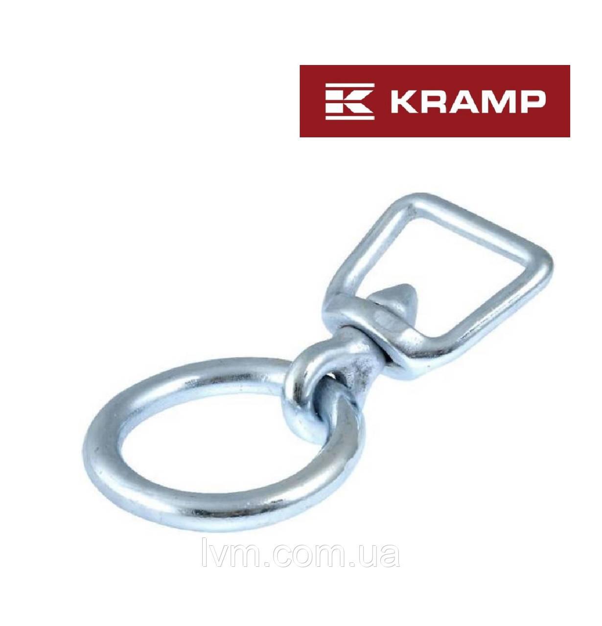 Скоба Вертлюжная с кольцом Ø 7мм*14,5см для привязи (сталь оцинкованная) KRAMP (Нидерланды)