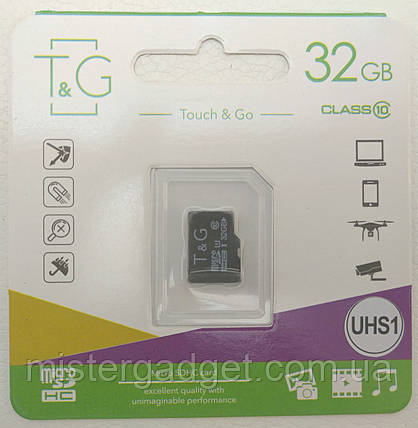 Карта памяти 32Gb MicroSD T&G 10 класс, фото 2